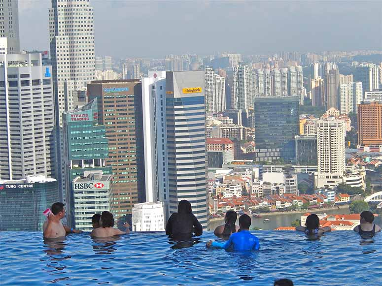 Evighetspoolen p marina bay sands i singapore for Singapour marina bay sands piscine