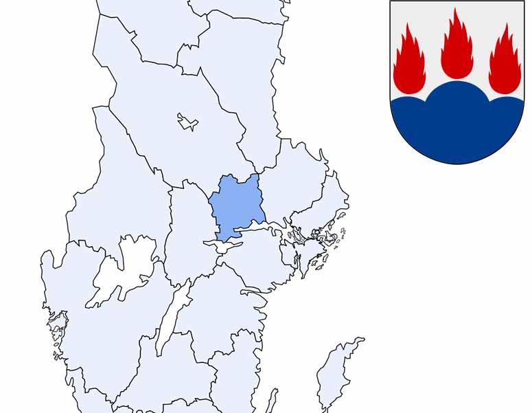 Kommuner I Blekinge Karta.Sveriges 21 Lan