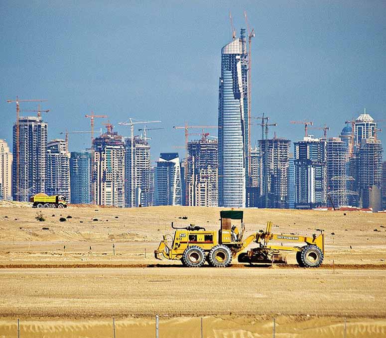 Skyskrapor som byggs i Dubai 2008