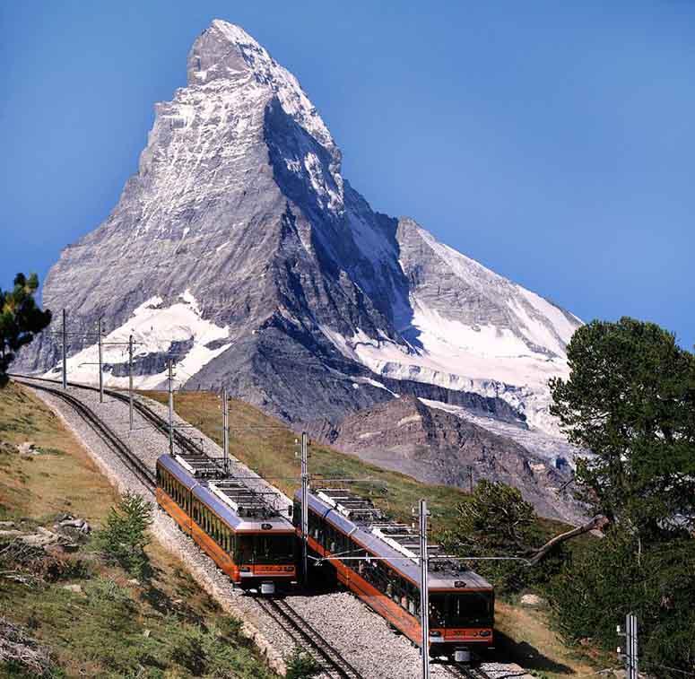 Gornergratbahn och Matterhorn