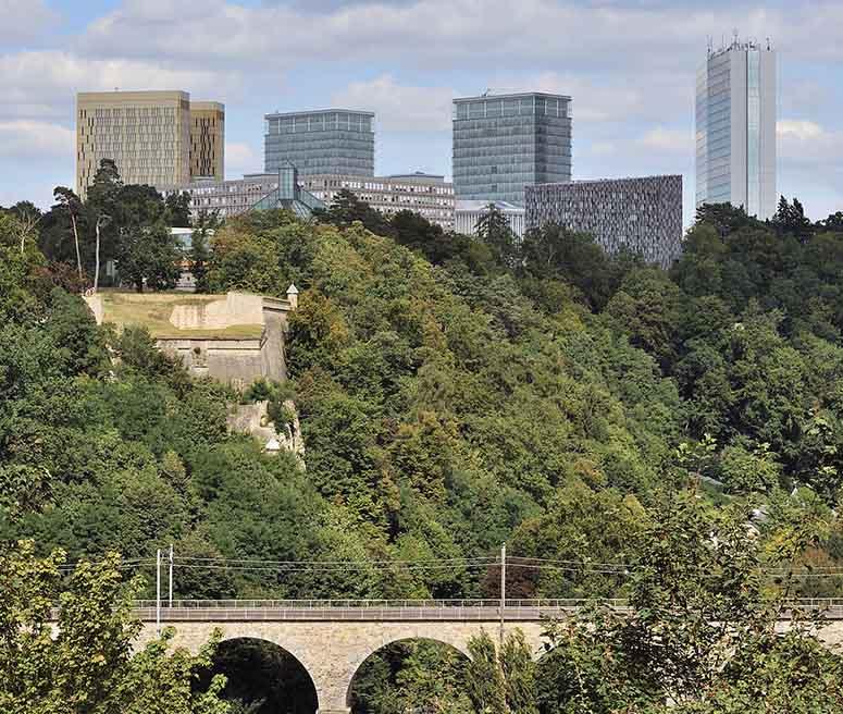 EU-byggnader i Kirchberg, Luxemburg